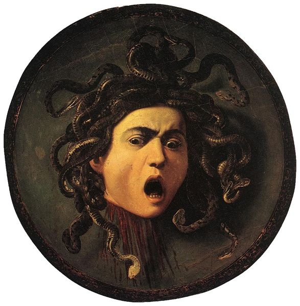 La Méduse de Michelangelo Merisi da Caravaggio dit Le Caravage - 1598