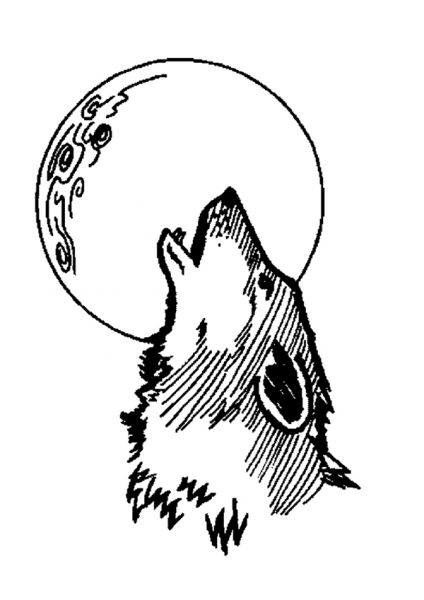 M me pas peur des loups garous les animations contes et jeux pour enfants de marjo le dino - Coloriage loup rigolo ...