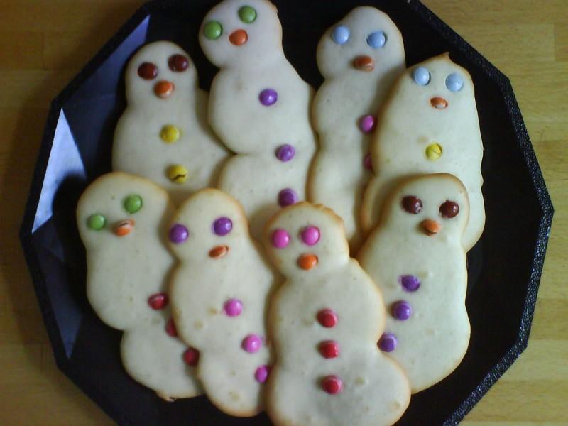 gâteaux bonhommes de neige